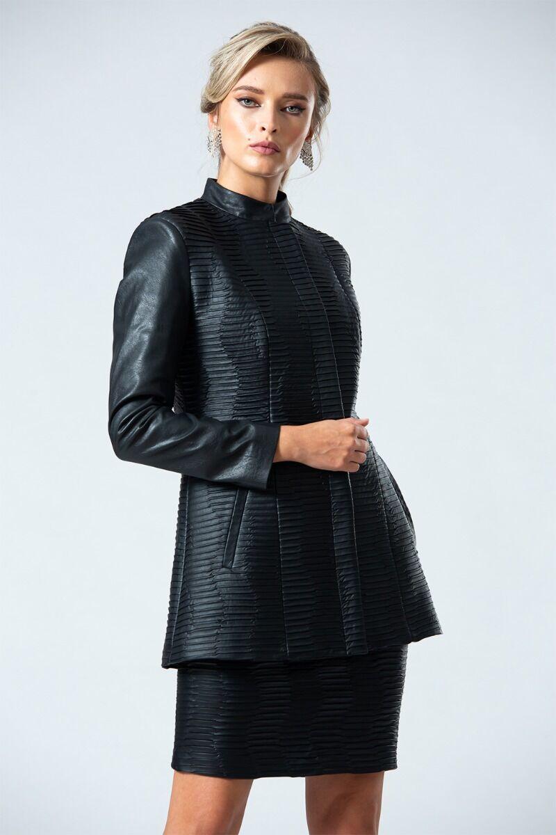 jacheta DAMES neagra din piele ecologica