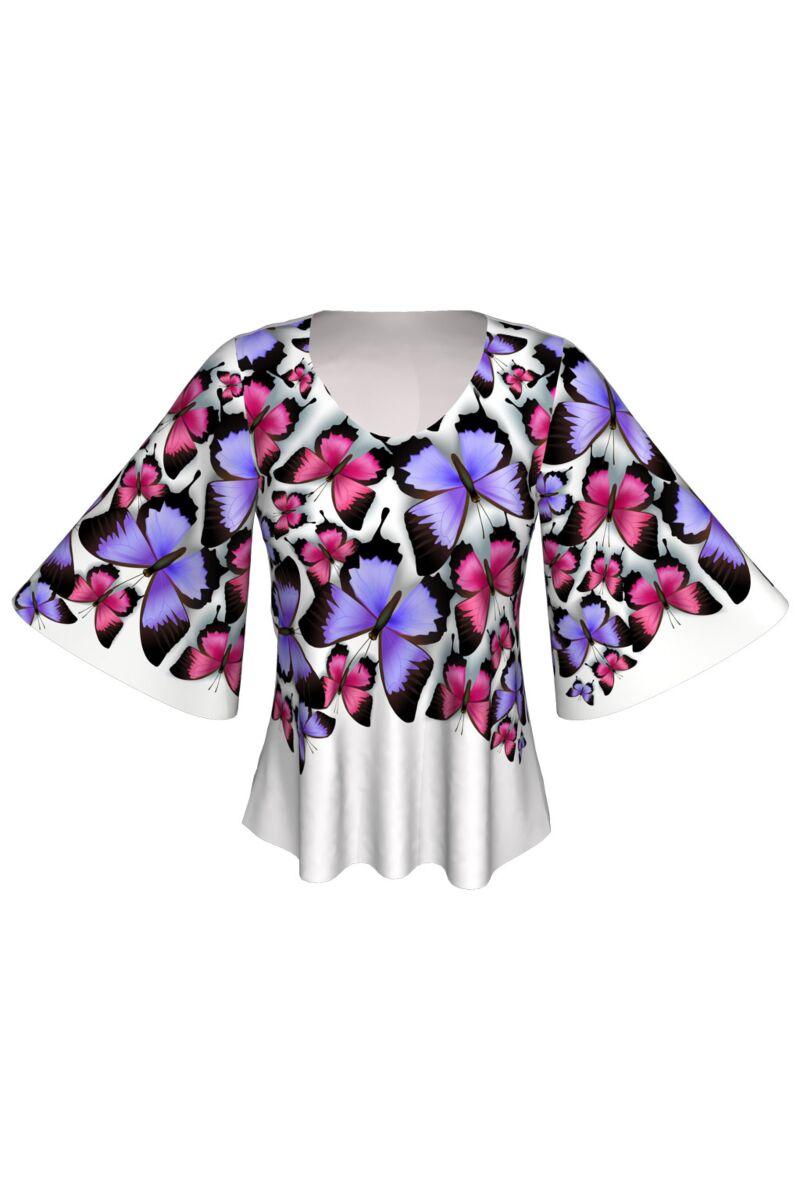 bluza DAMES cu fluturi multicolori
