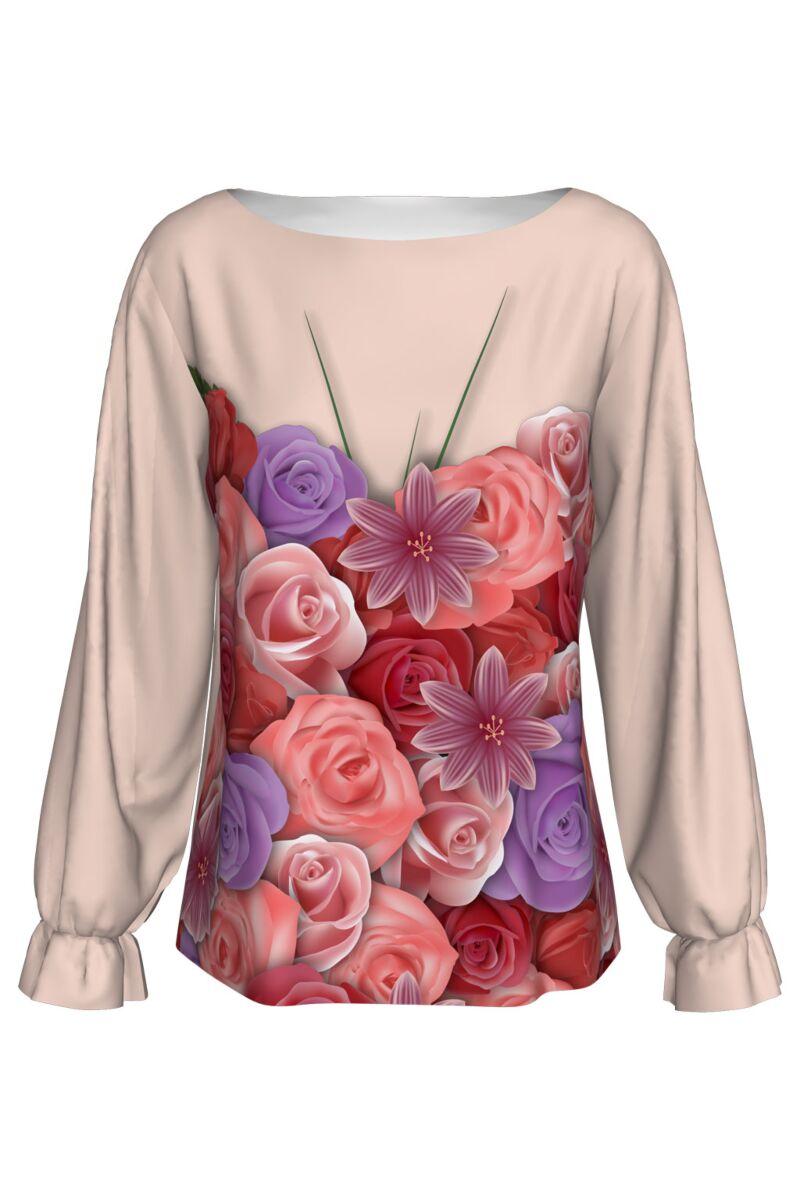 Bluza imprimata digital FLOWERS A842-I3