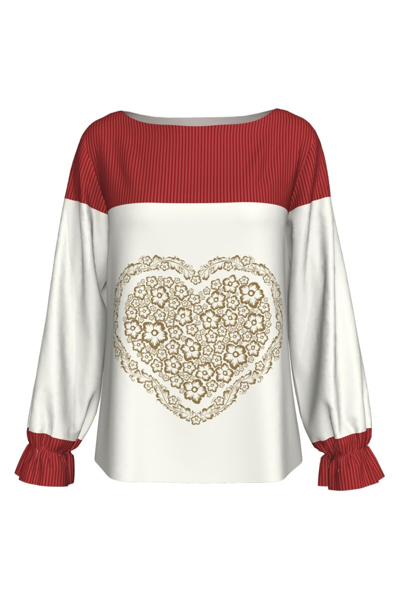 Bluza imprimata digital HEART A842-I5