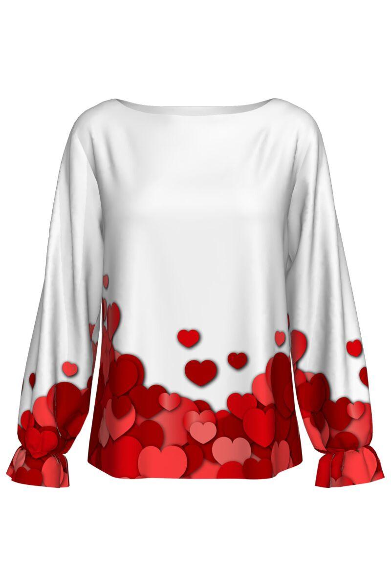 Bluza imprimata digital HEARTS A842-I6
