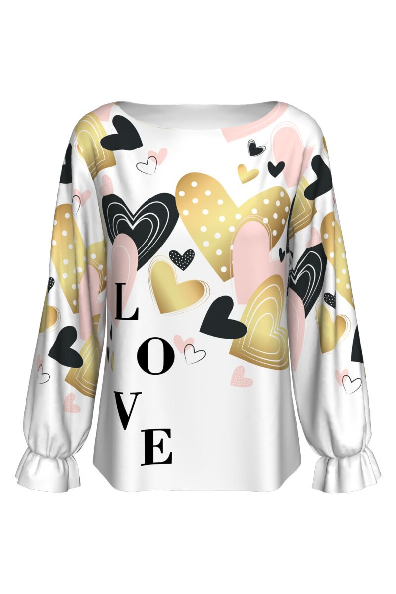 Bluza imprimata digital LOVE A842-I8