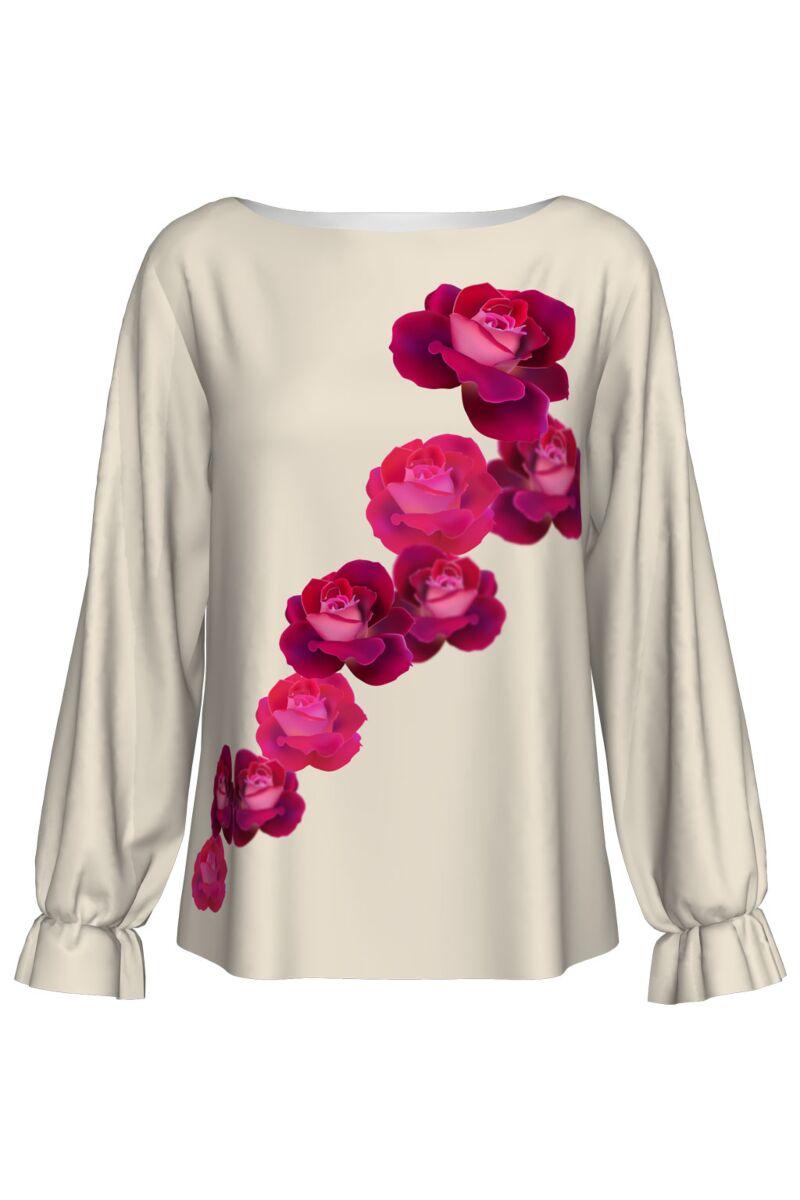 Bluza DAMES cu imprimeu trandafiri Valentines DAY