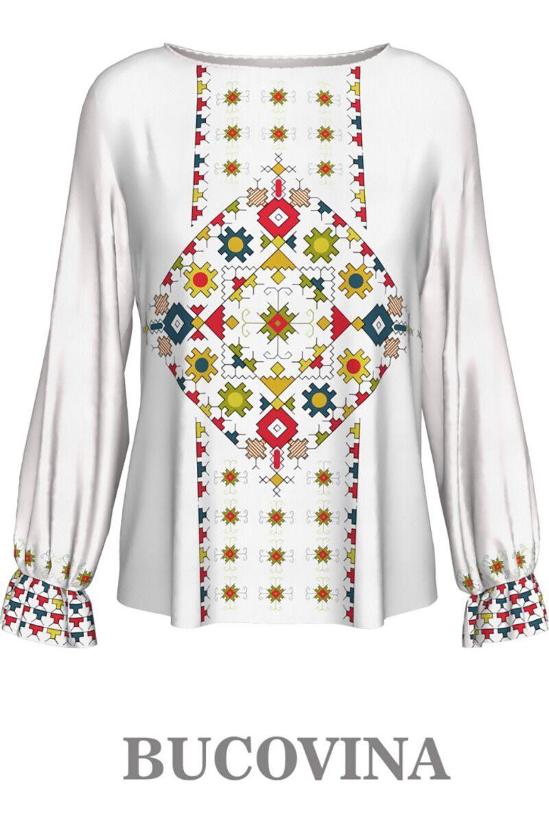 bluza DAMES cu maneca lunga imprimata cu motive traditionale