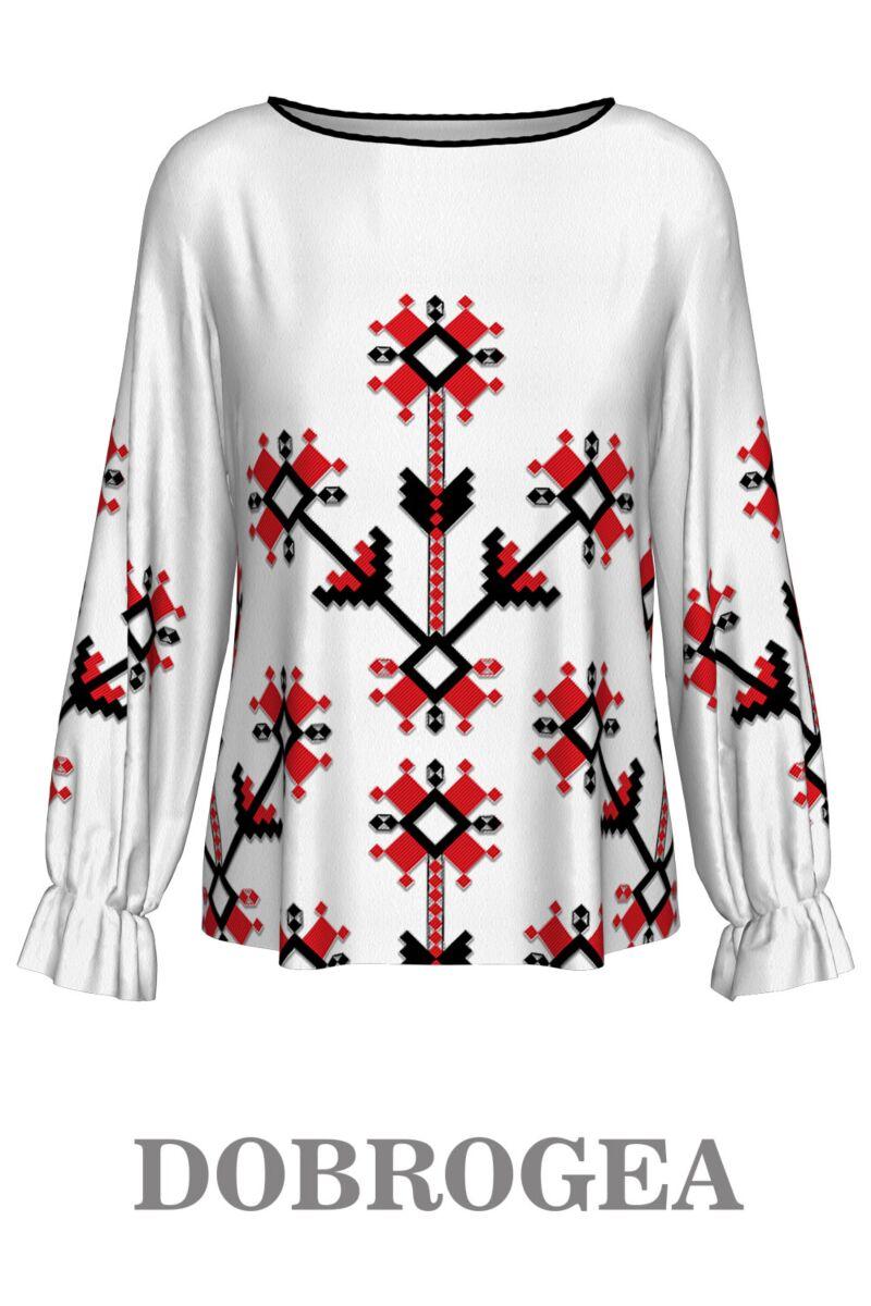 Bluză imprimată Dobrogea A842D