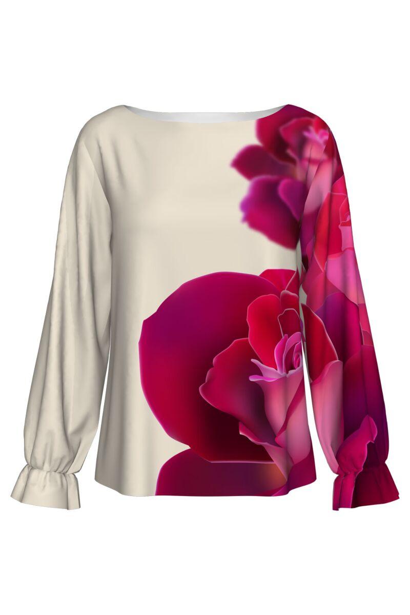 Bluză  DAMES cu trandafiri imprimati digital