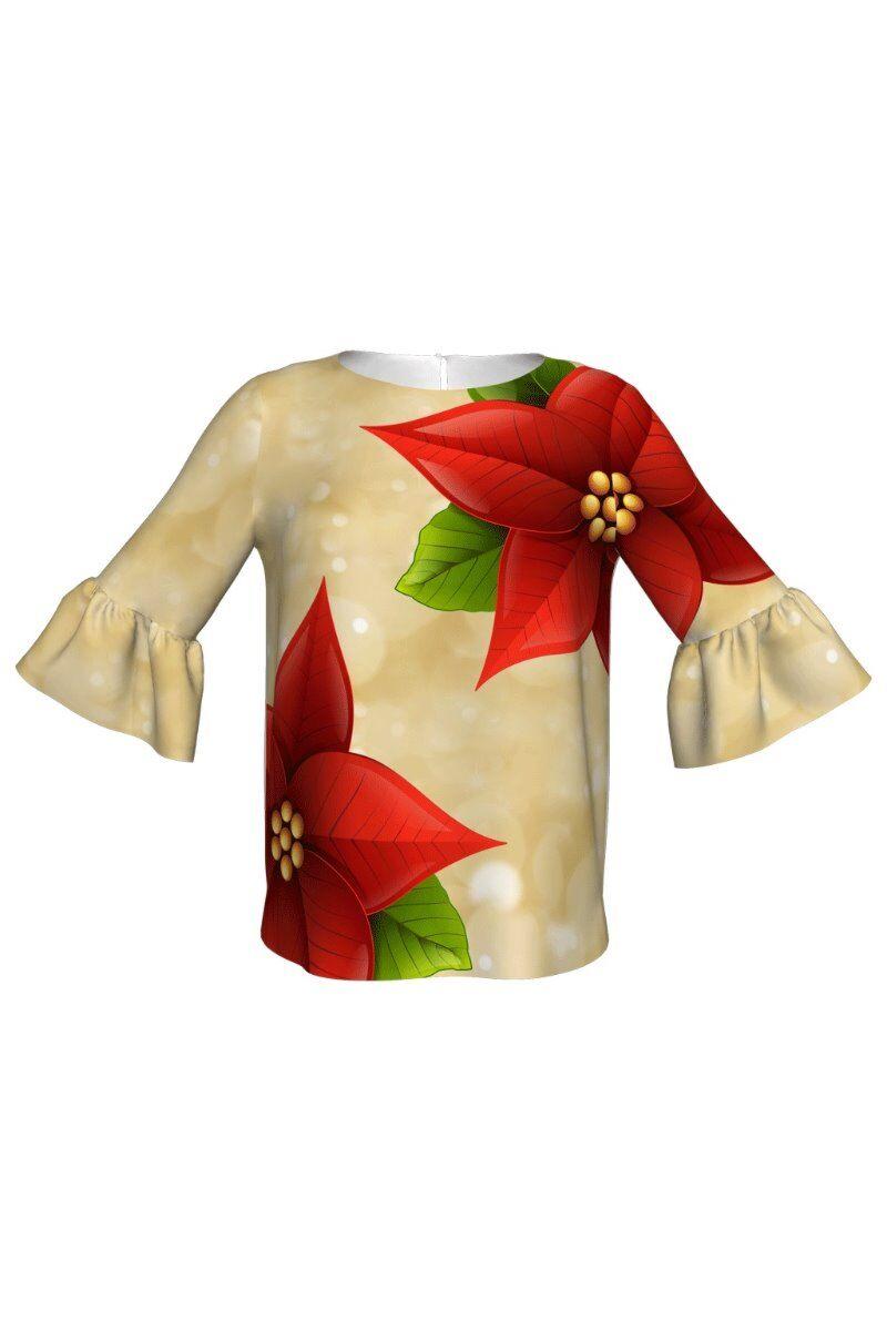 Bluza DAMES imprimata cu floarea Craciunului