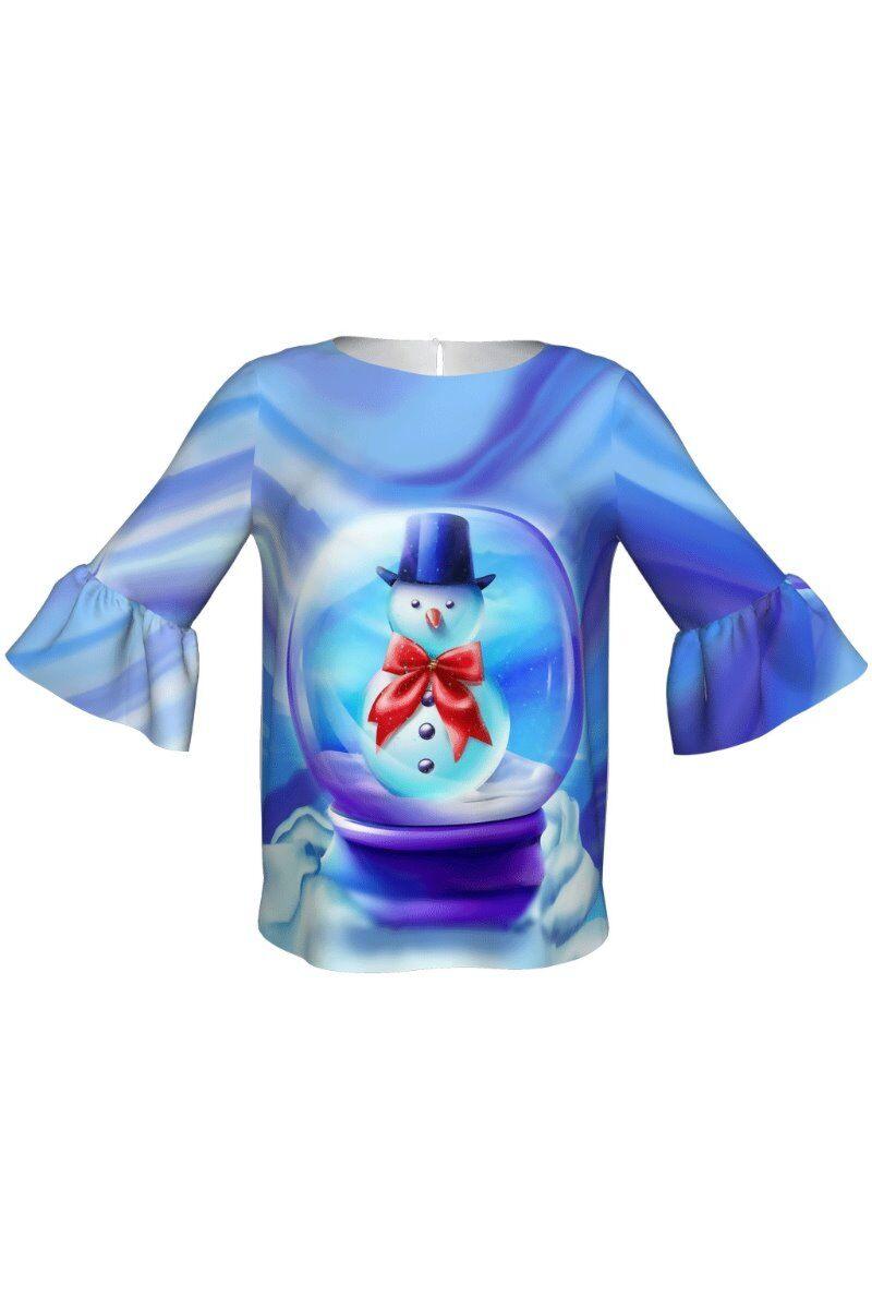 bluza DAMES imprimata cu motiv de Craciun om de zapada