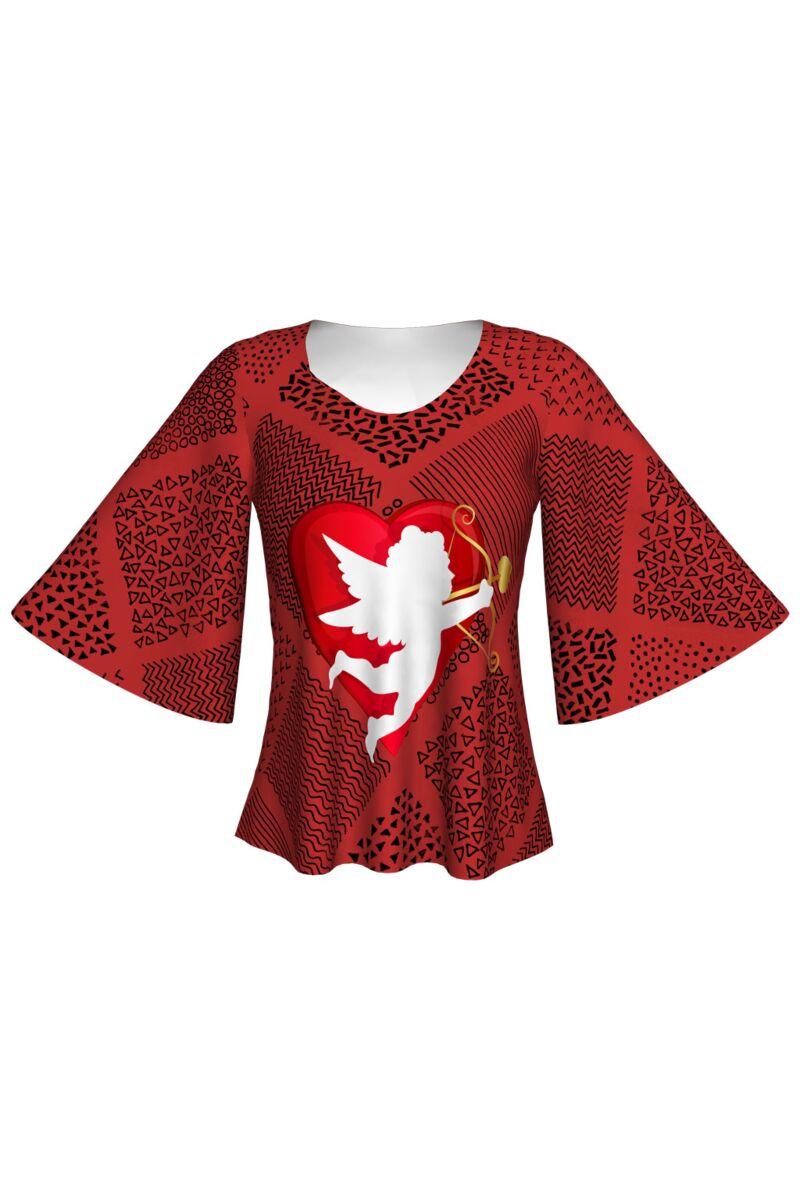 Bluză imprimată digital, Cupid 1 A845-I3