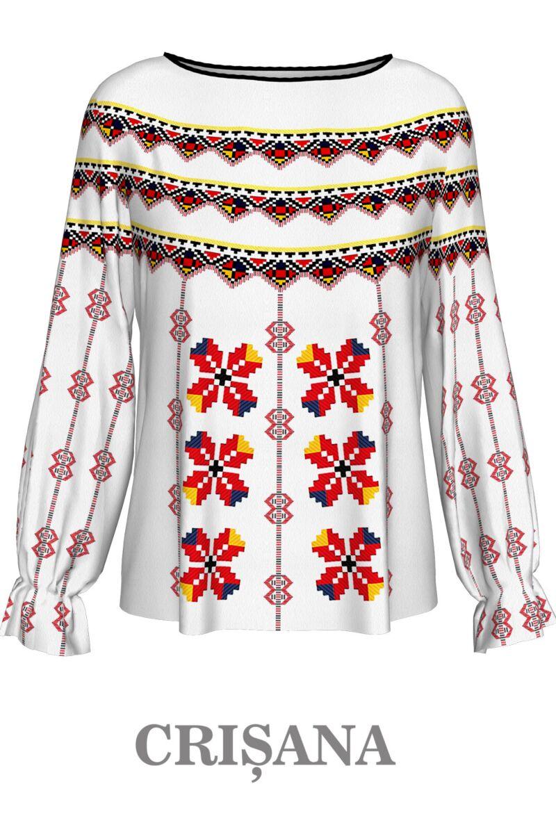 Bluză imprimată  Crișana1,A842C1