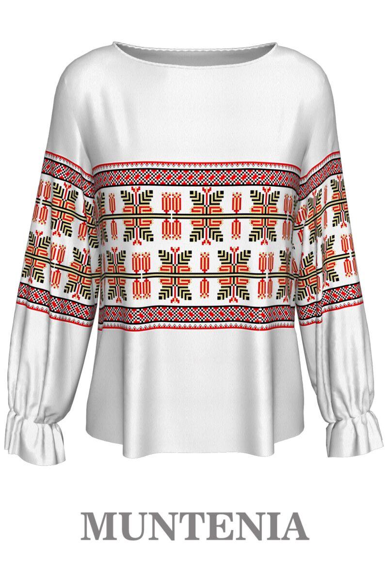 Bluză imprimată digital cu motive tradiționale Muntenia 1 A842MN1
