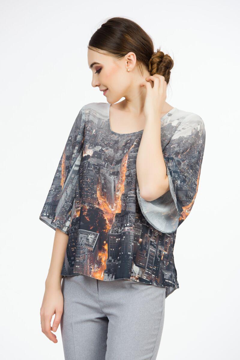 Bluză cu  imprimeu  New York A845N
