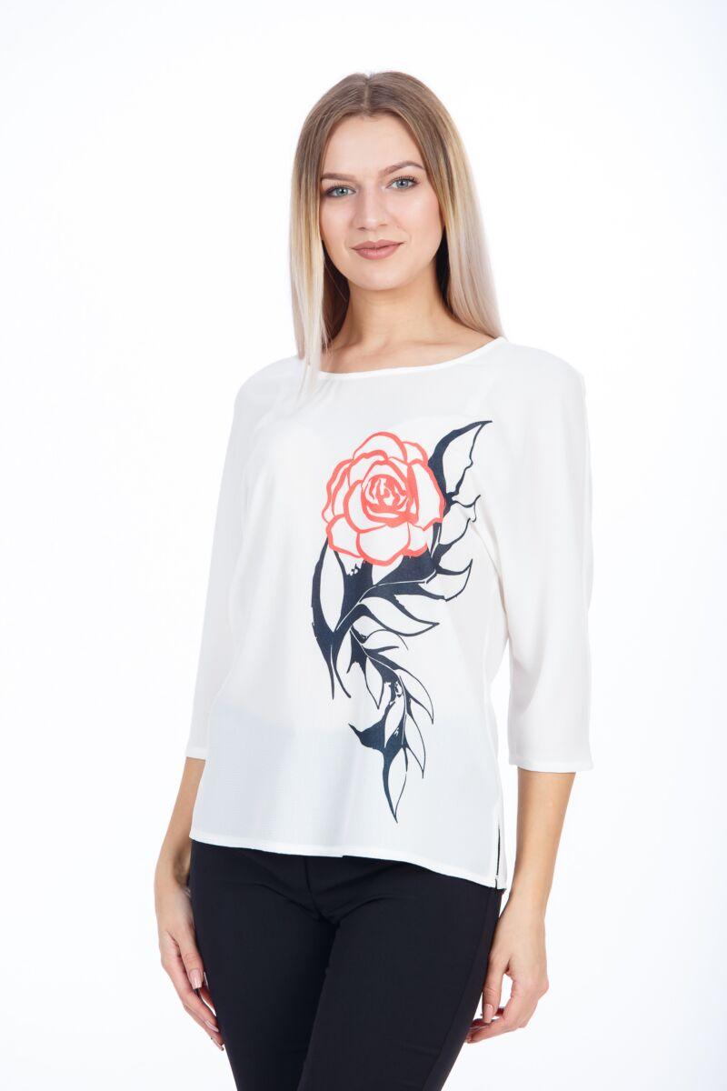 Bluza casual cu maneca raglan,trandafir,M1098
