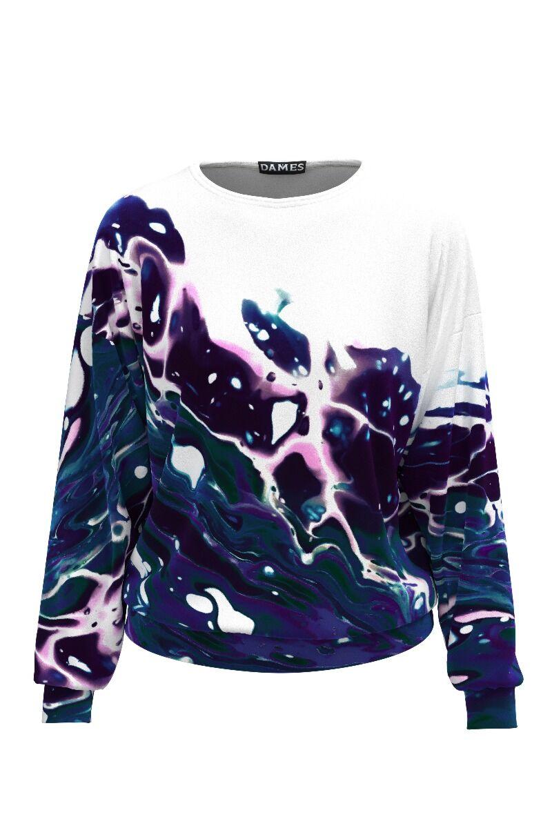 bluza DAMES sport cu imprimeu multicolor
