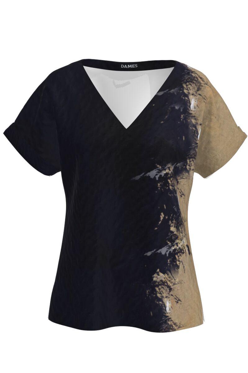 Bluza cu maneca raglan in doua culori CMD605
