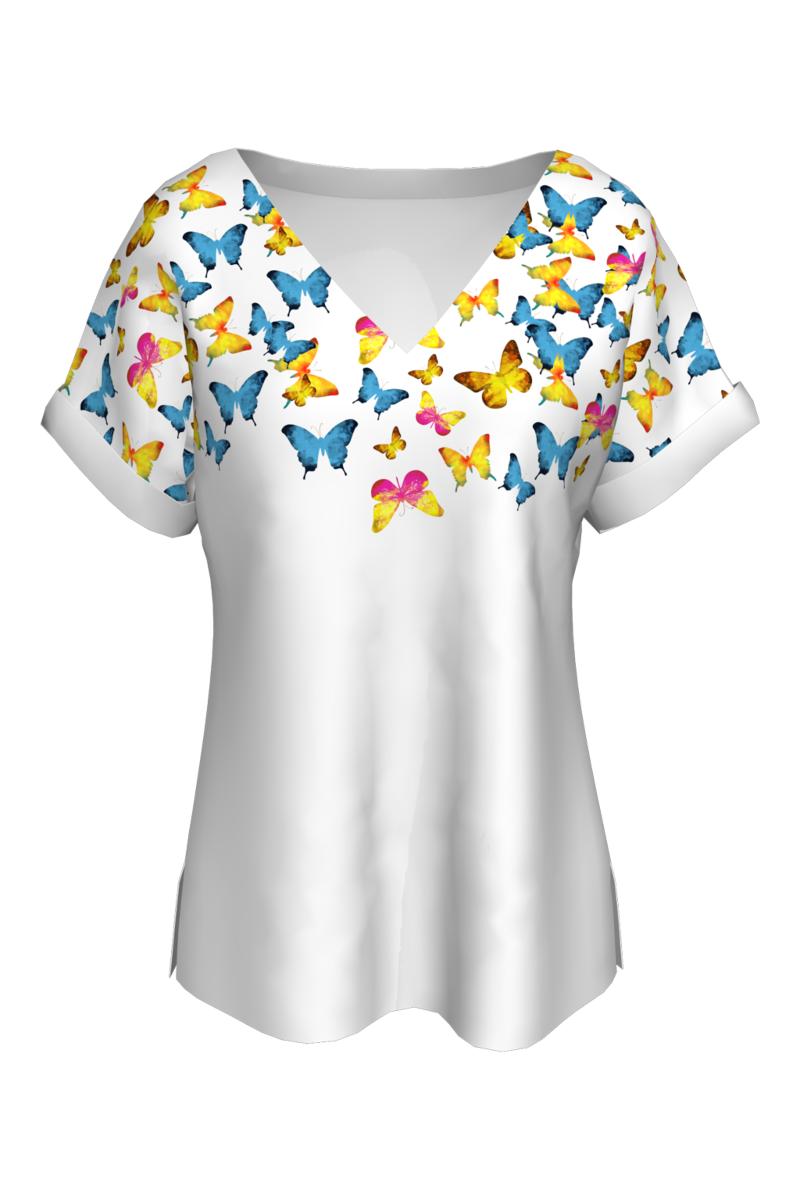 Bluză cu fluturi multicolor CMDB11