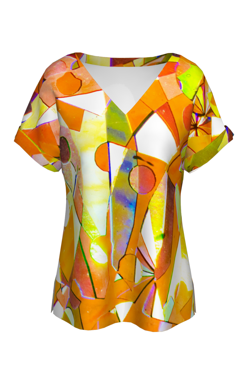 Bluză cu mâneci raglan Tangerine CMDB61