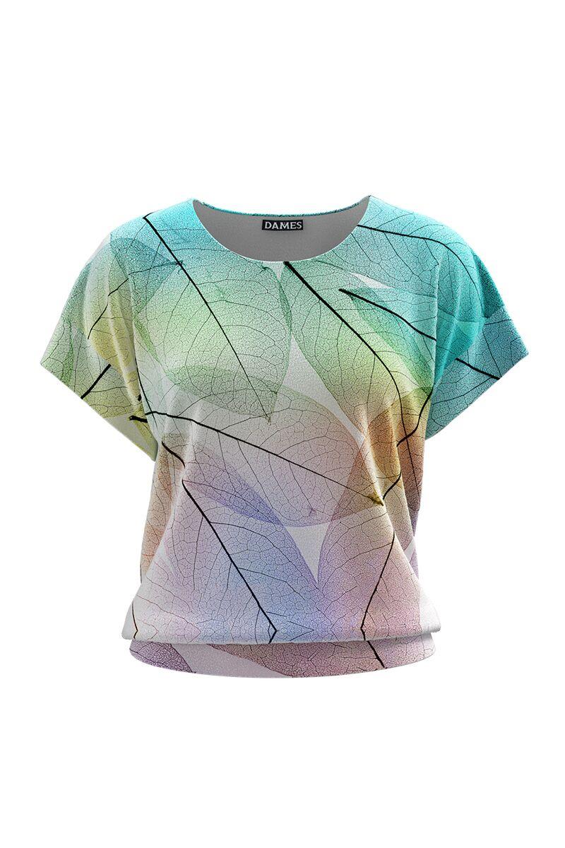 Bluza DAMES multicolora din catifea cu imprimeu digital