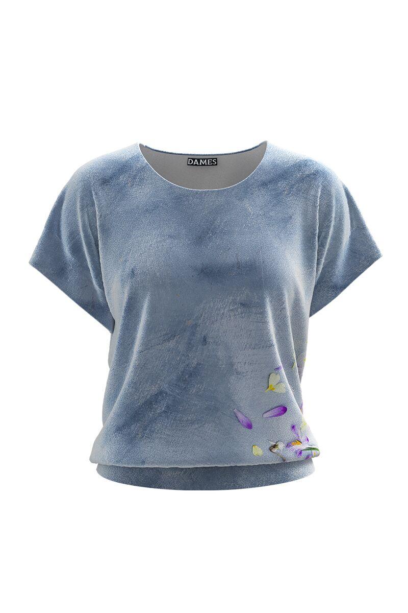 Bluza DAMES bleudin catifea cu imprimeu digital