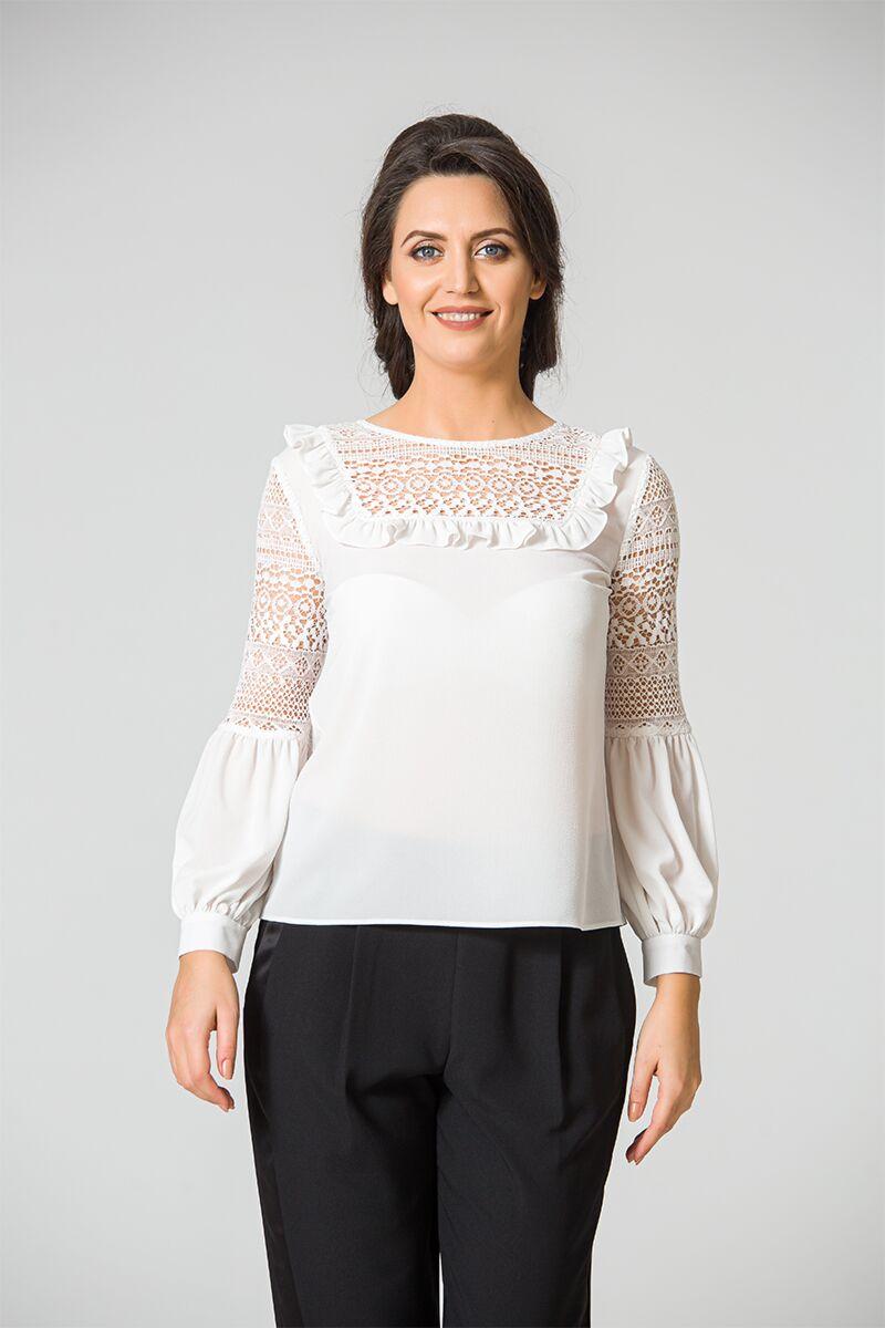 Bluza eleganta cu detalii dantelate DM108
