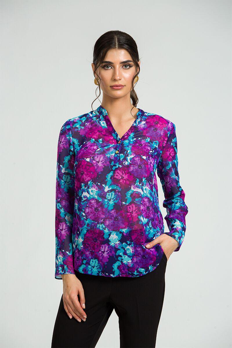 Bluza eleganta cu guler tunica si nasturi DM182
