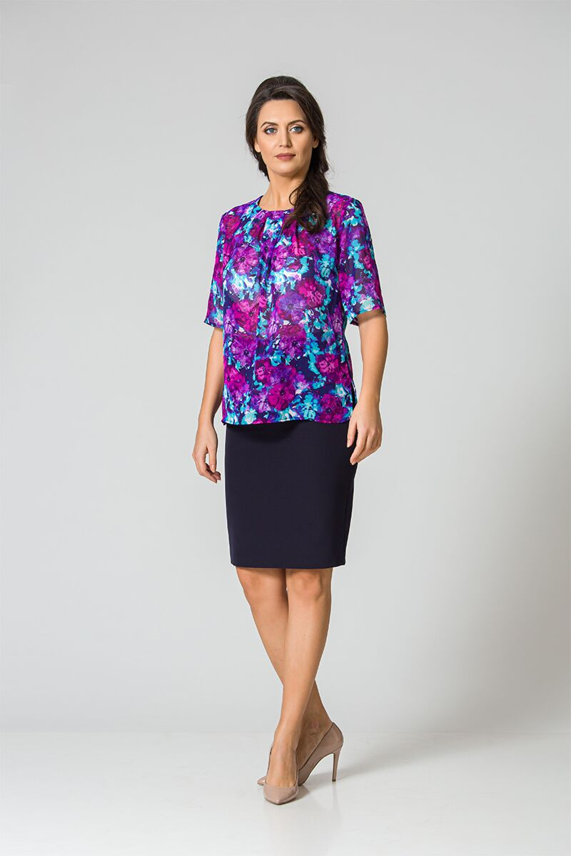 Bluza eleganta cu plii DM102