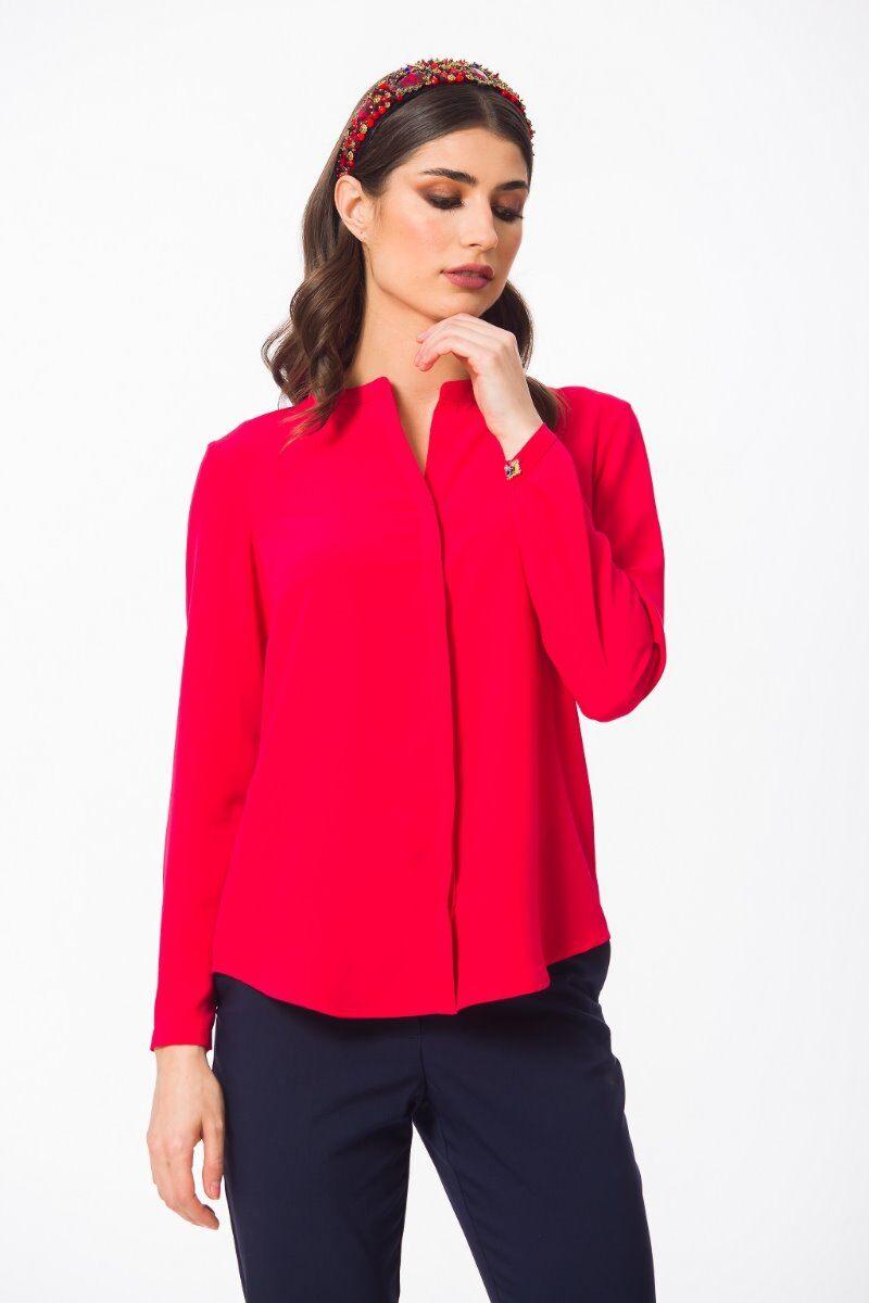 Camasa eleganta PREMIUM Rubin cu guler tunica si mansete DP003R