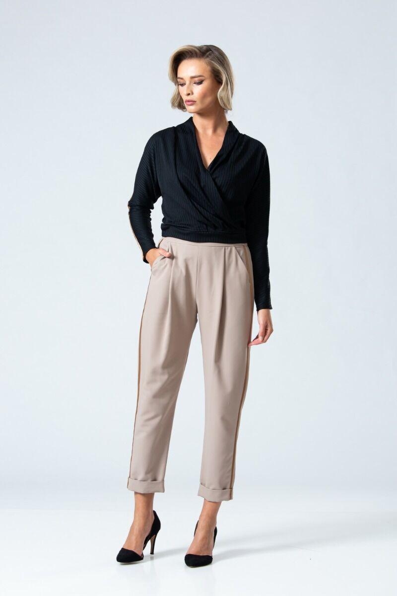 Pantaloni eleganti PREMIUM cu plii DP047