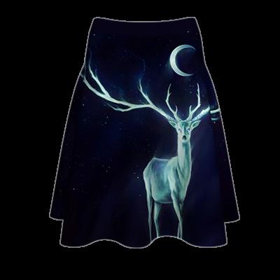 Fustă imprimată Ghost Deer A817H10