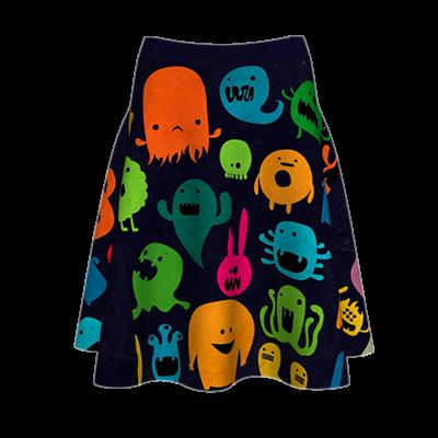 Fustă imprimată Cool Monsters A817H8