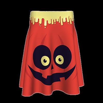 Fustă imprimată Scary Halloween  A817H37
