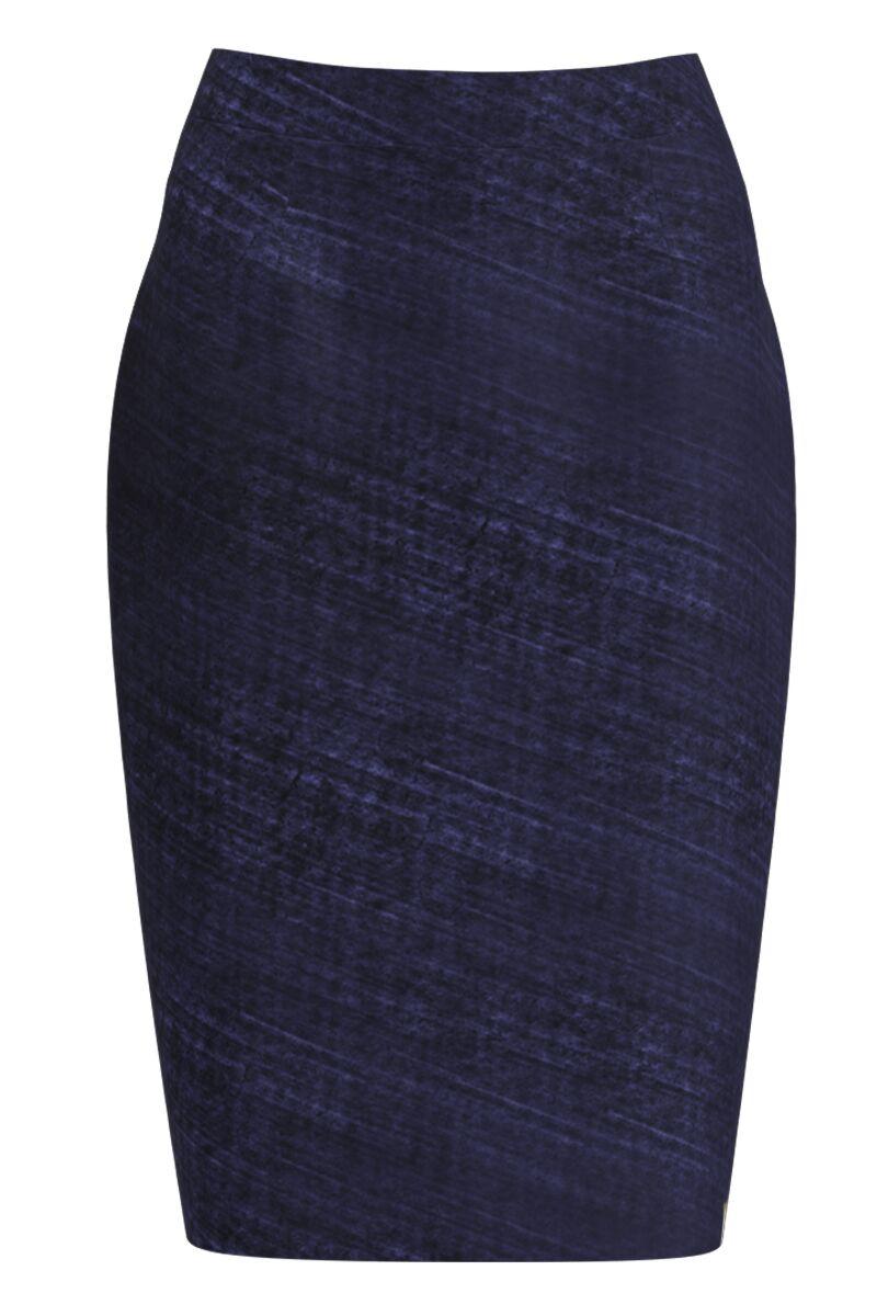 Fusta conica bleumarin imprimata digital CMD1126