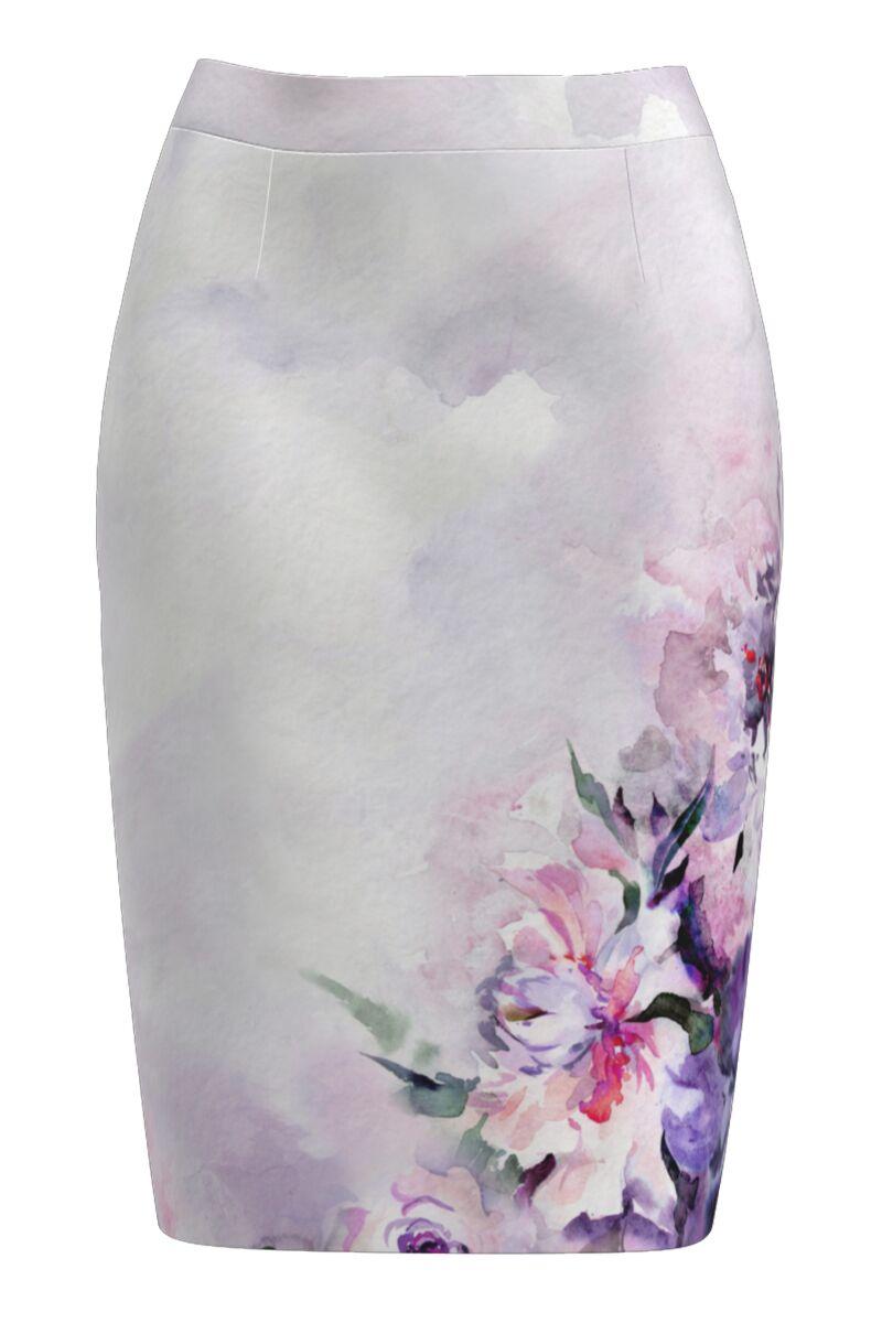 Fusta dames  conica imprimata cu model floral