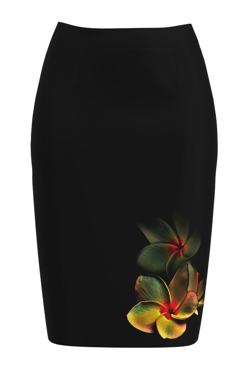 Fusta conica imprimata cu model floral CMD1097