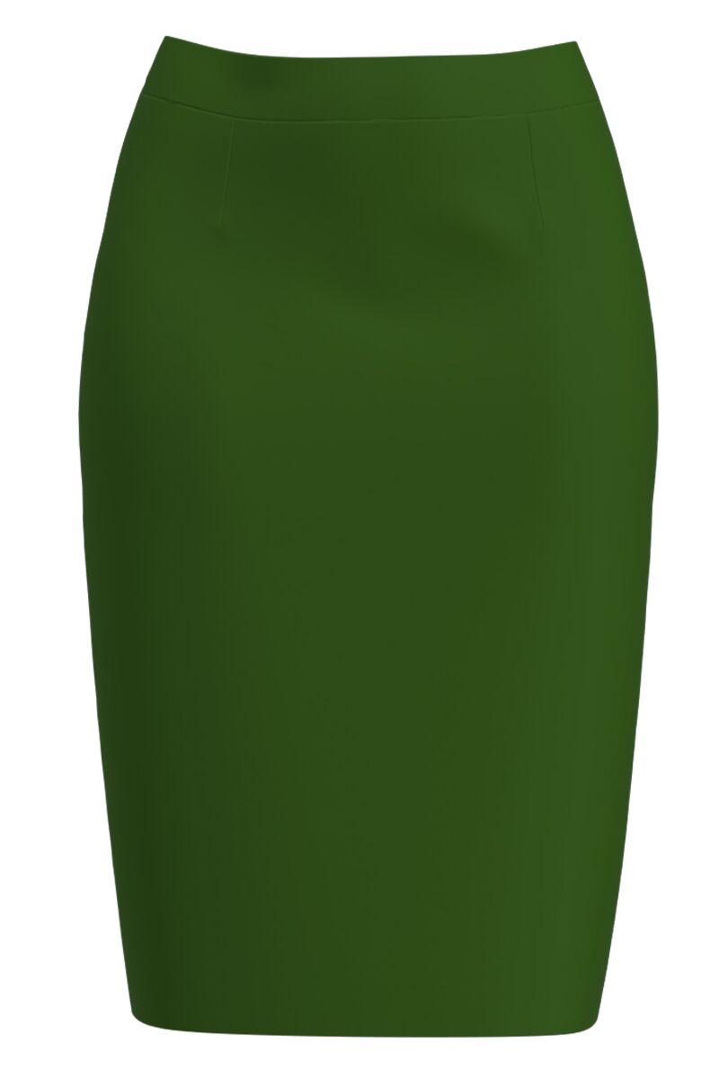 Fusta conica verde imprimata digital CMD1407