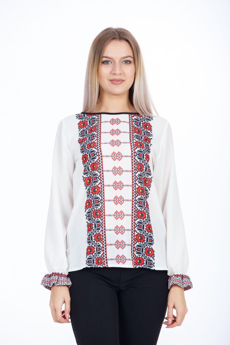 Bluza casual tip ie cu motive traditionale Crisana M1103