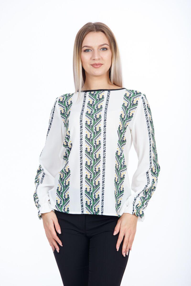 Bluza casual cu motive traditionale Dobrogea,M1104