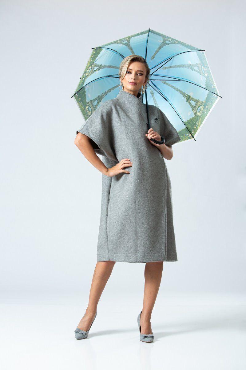 palton DAMES de iarna fashion gri elegant