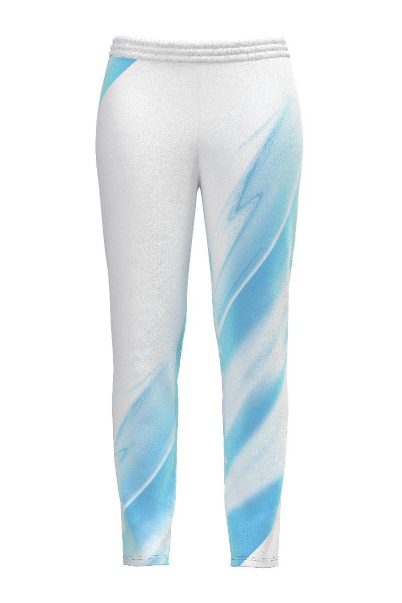 pantalon de treining  DAMES alb cu bleu