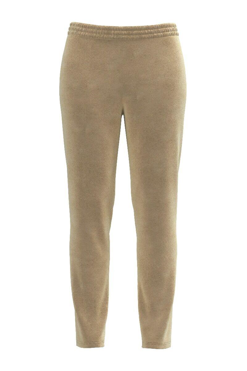 Pantaloni DAMES bej din catifea cu buzunare