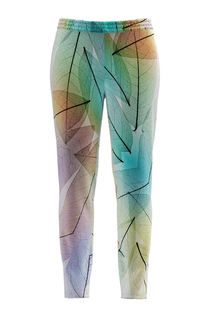 Pantaloni multicolori din catifea cu buzunare CMD691