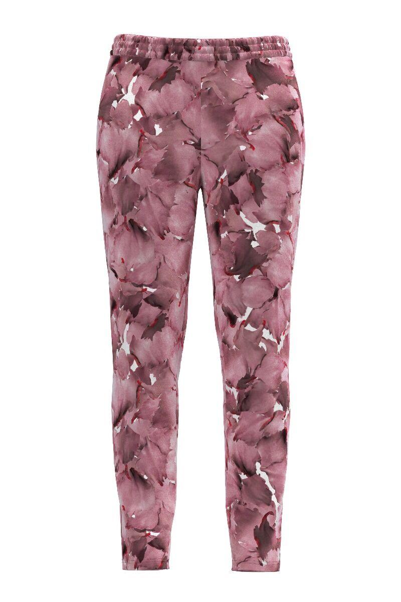 pantaloni de treining DAMES din catifea cu imprimeu floral