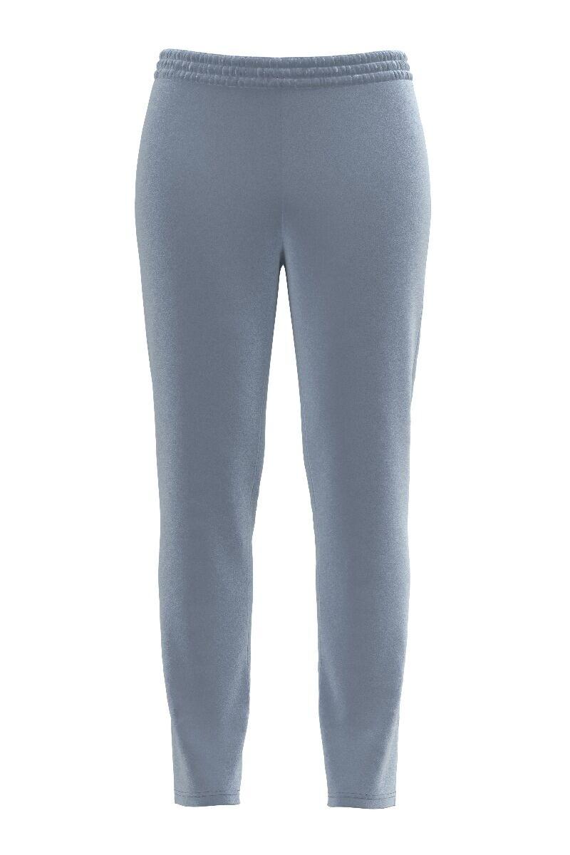 pantaloni DAMES din catifea, gri deschis cu buzunare