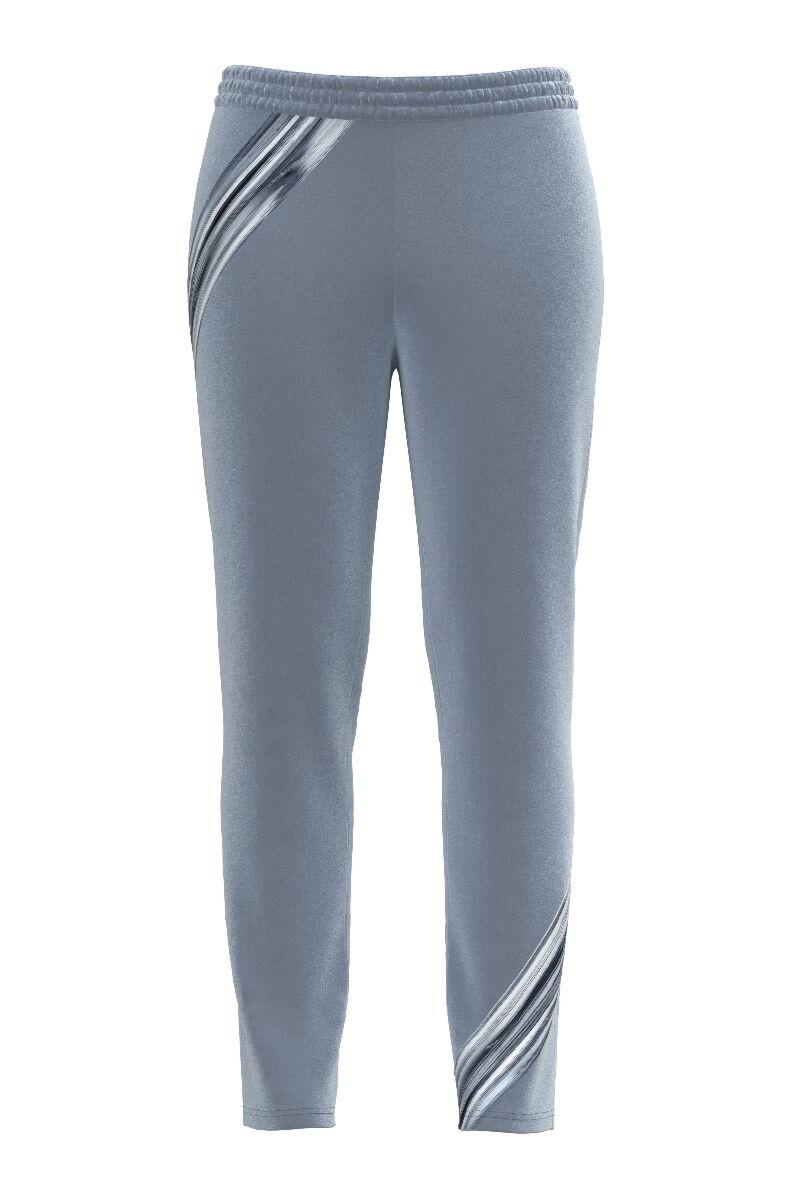 pantaloni DAMES din catifea, gri imprimati cu buzunare