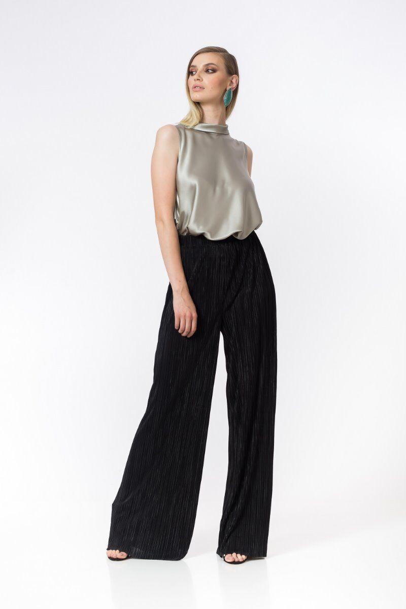 Pantaloni eleganti PREMIUM maxi plisati DP028