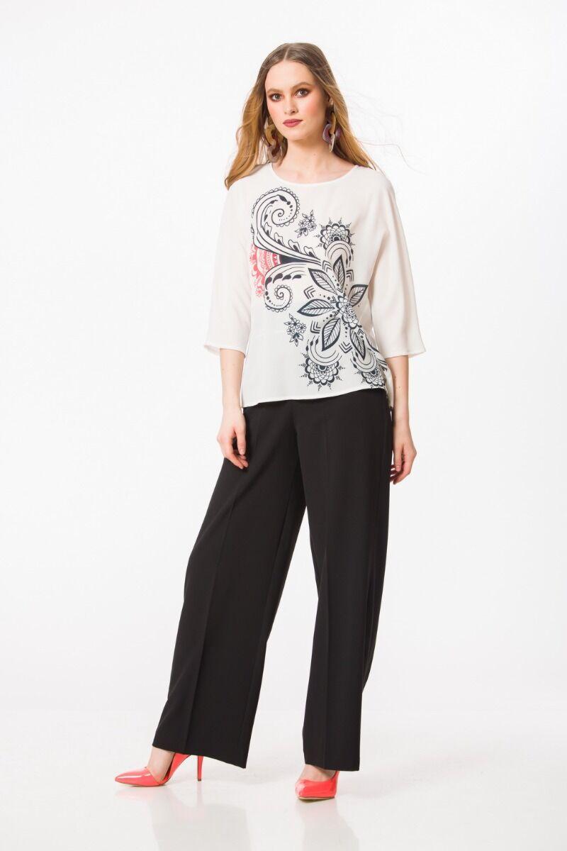 Bluza casual, florala cu maneca raglan M1096