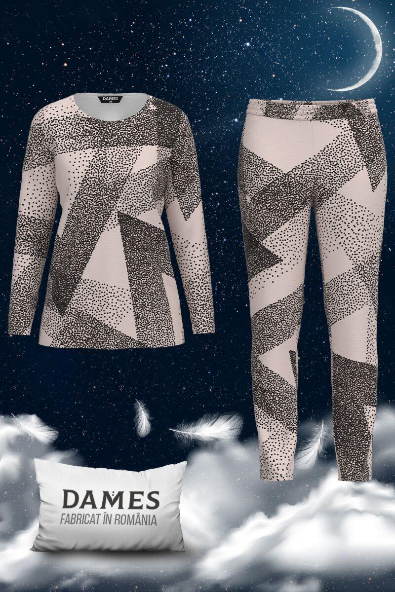 Pijamale DAMES  de dama cu imprimeu abstract