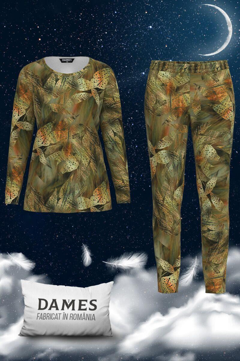Pijamale  dames de dama cu imprimeu digital