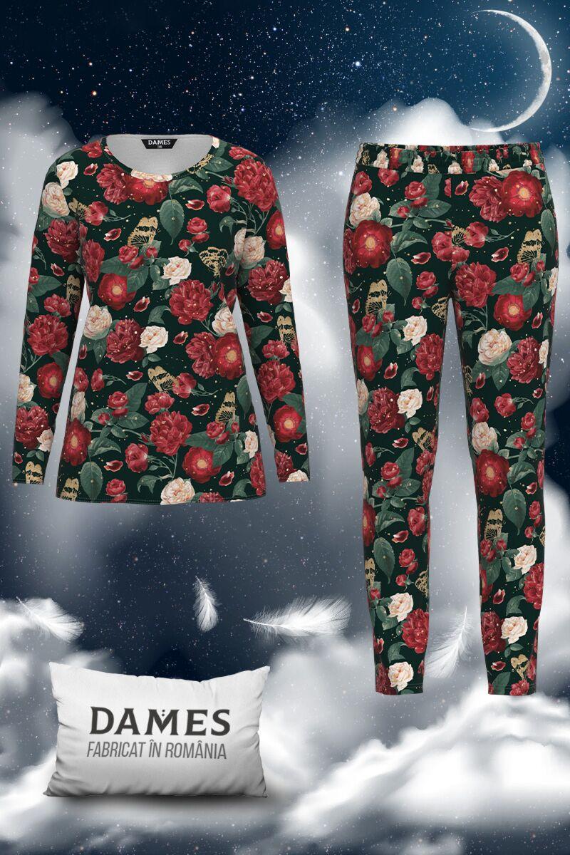 Pijamale  DAMES de dama cu imprimeu floral
