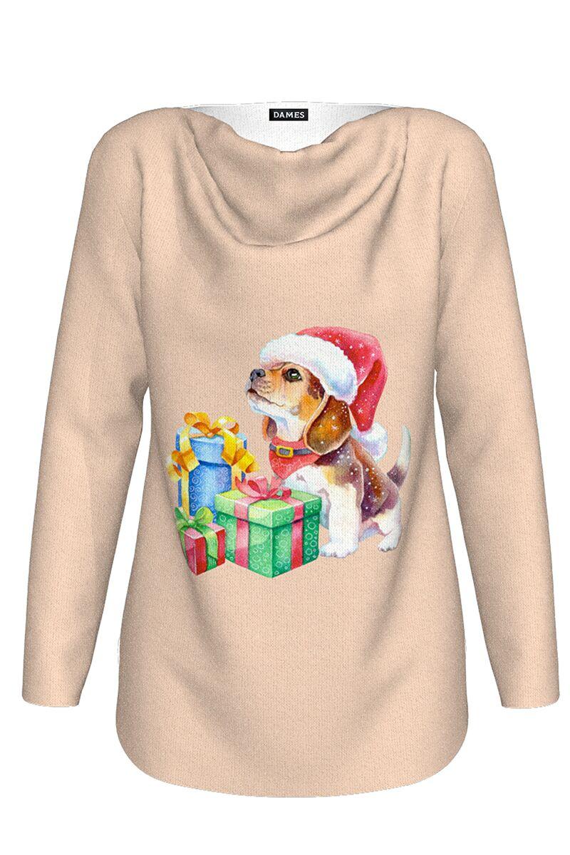 pulover DAMES nude imprimat de Craciun cu model amuzant cadouri